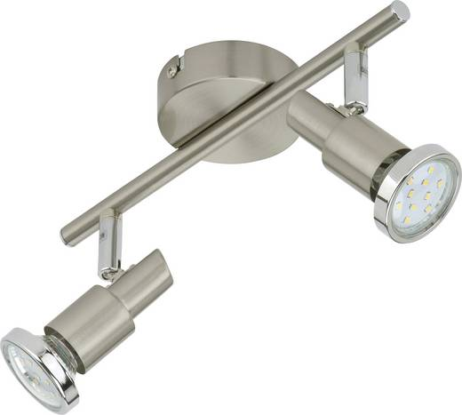 Deckenstrahler LED GU10 EEK: A+ (A++ - E) 6 W Briloner Cool 2991-022B Nickel (matt)