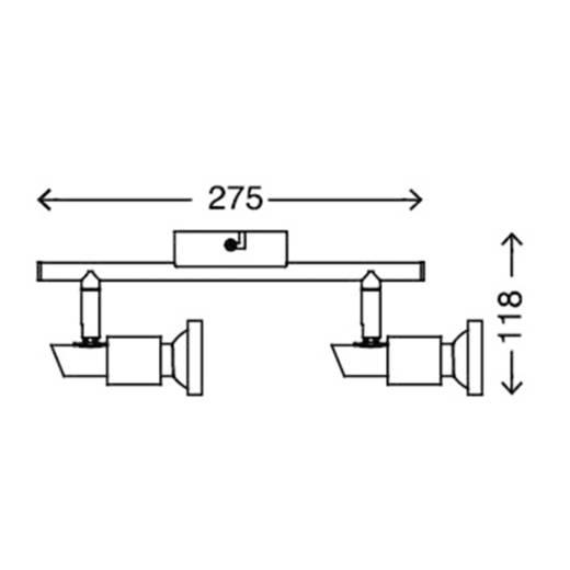 Deckenstrahler LED GU10 6 W Briloner Cool 2991-022B Nickel (matt)