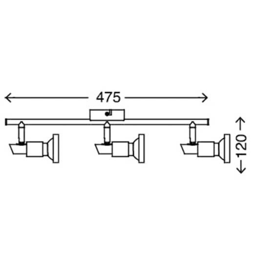 Deckenstrahler LED GU10 9 W Briloner Cool 2991-032B Nickel (matt)