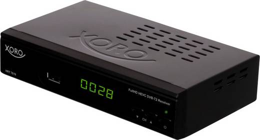 DVB-T2 Receiver Xoro HRT 7619 inkl. HAN-100 DVB-T Antenne & HDMI Kabel Front-USB, Deutscher DVB-T2 Standard (H.265)