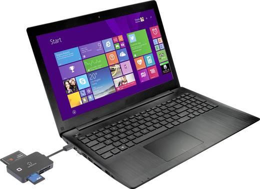 Externer Speicherkartenleser USB-C™, USB 2.0 Renkforce CR36e Schwarz