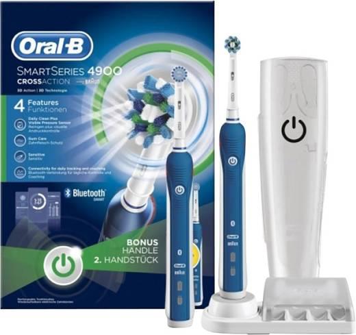 Elektrische Zahnbürste Oral-B Smart Series 4900 Cross Action Rotierend/Oszilierend/Pulsieren Blau