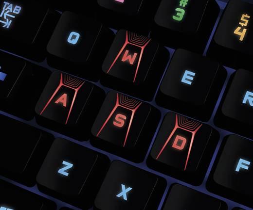 USB-Gaming-Tastatur Logitech Gaming G410 ATLAS SPECTRUM Beleuchtet, Abnehmbares Kabel Schwarz
