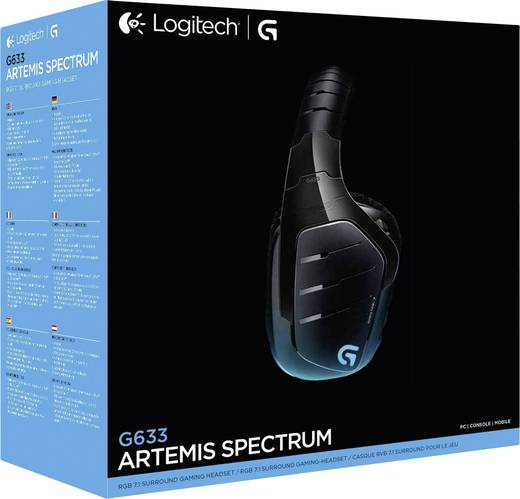 Logitech Gaming G633 Artemis Spectrum Gaming Headset USB, 3.5 mm Klinke schnurgebunden Over Ear Schwarz