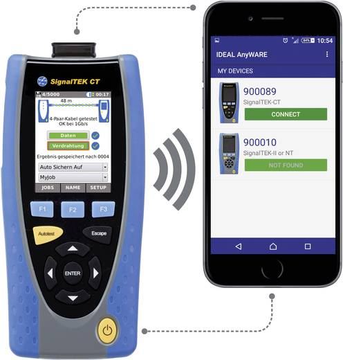 IDEAL Networks SignalTEK CT Datenkabel Transmission-Tester, Kabellängen-Messgerät,