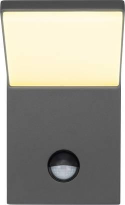 Venkovní nástěnné LED osvětlení s PIR detektorem Renkforce Bilbao 1406152, 9.5 W, teplá bílá
