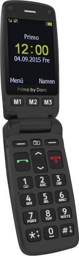 Primo by DORO 406 Senioren-Klapp-Handy mit Ladestation, SOS Taste Schwarz