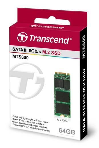 Transcend TS64GMTS600 Interne SATA M.2 SSD 2260 64 GB MTS600 Retail M.2