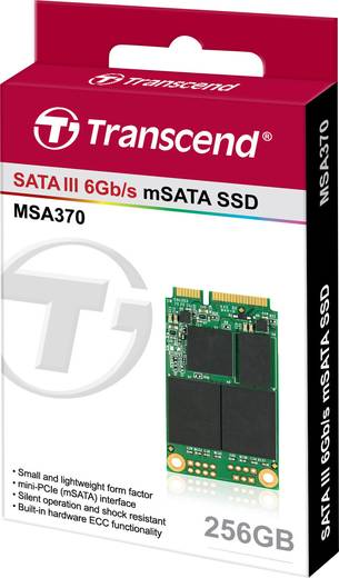Interne mSATA SSD 256 GB Transcend Retail TS256GMSA370 mSATA