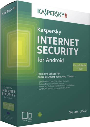 Kaspersky Lab Internet Security for Android Vollversion, 2 Lizenzen Android Sicherheits-Software