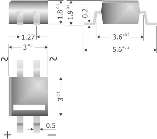 Brückengleichrichter Diotec MYS250 MicroDIL 600 V 0.5 A Einphasig