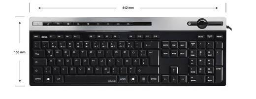 Hama MEDIA KEYBOARD MOLINA USB-Tastatur Schwarz