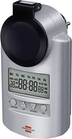 Venkovní/pokojová digitální spínací zásuvka Brennenstuhl 1507491 3680 W, IP44, CZ