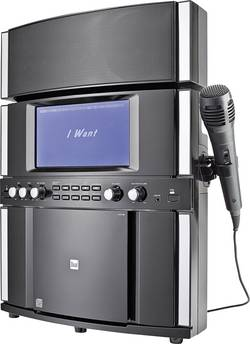 Karaoke stanice s textovým displejem a mikrofonem Dual DK 200, CD/MP3, USB, stereo