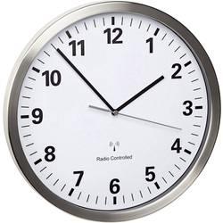 DCF nástenné hodiny TFA Dostmann Funk-Wanduhr 60.3523.02, vonkajší Ø 30.5 cm, nerezová oceľ