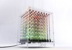 3D experimentální stavebnice LED kostky Looking Glass L3D Cube (8x8x8 Full Color Kit)