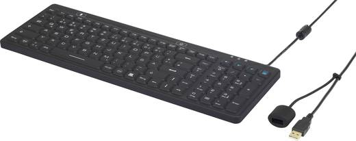 iM-IKB106-BK USB-Tastatur Renkforce Schwarz Spritzwassergeschützt, Staubgeschützt
