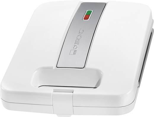Sandwich-Toaster Clatronic ST3629 4-fach Weiß-Silber