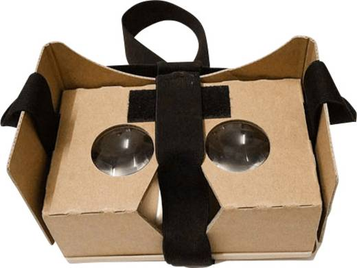 Basetech Headmount Google 3D VR Braun Virtual Reality Brille Google Cardboard