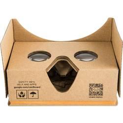 Okuliare pre virtuálnu realitu Basetech Headmount Google 3D VR, hnedá
