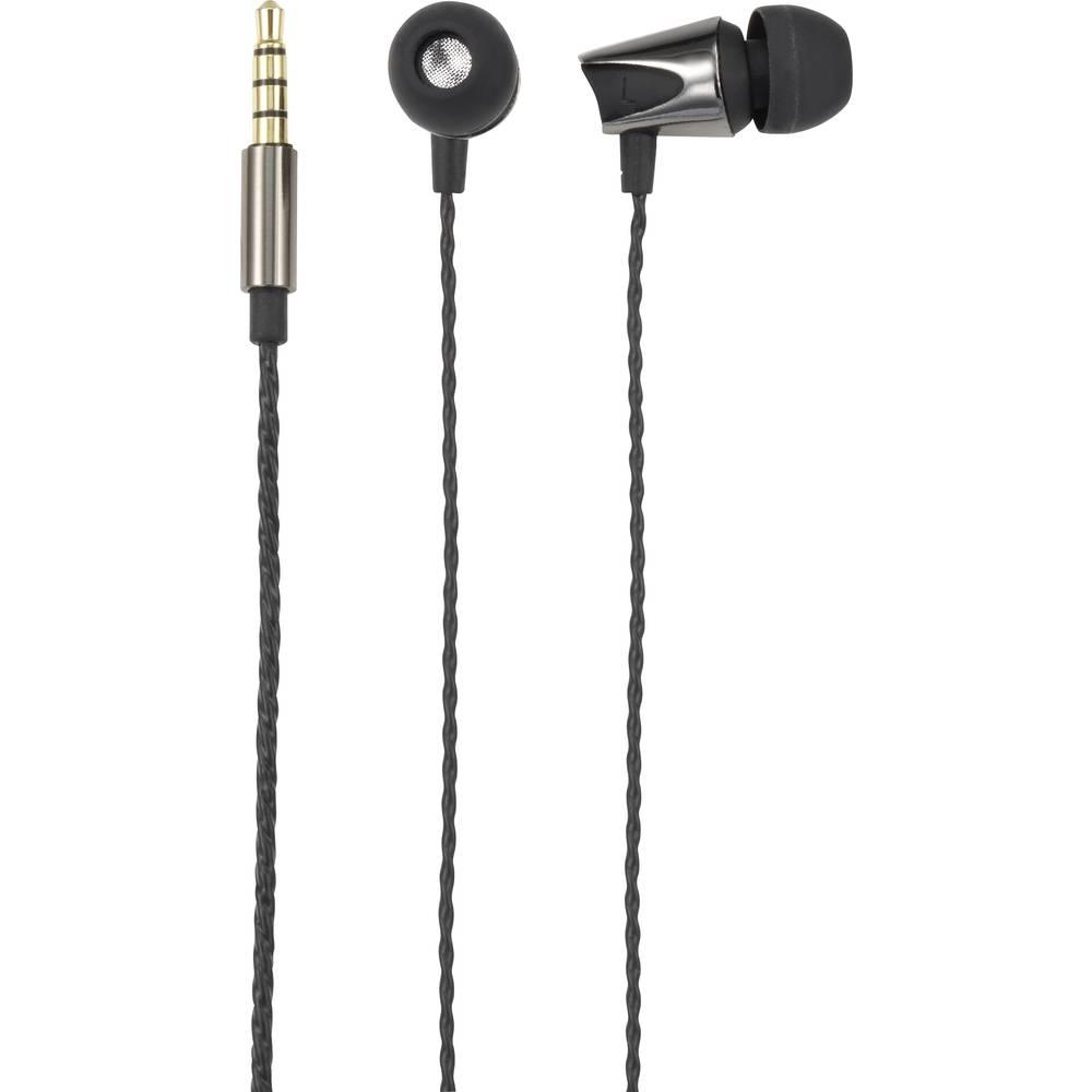 Renkforce Headset stereo Zwart (metallic)
