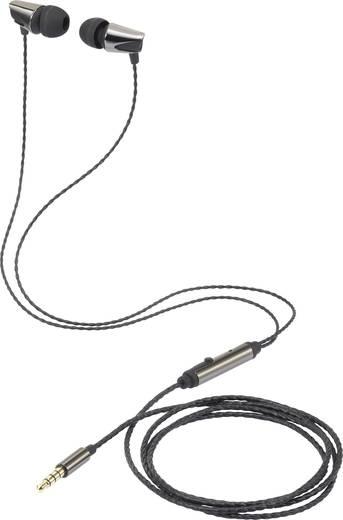 Renkforce EP-1056 Kopfhörer In Ear Headset Schwarz (metallic)