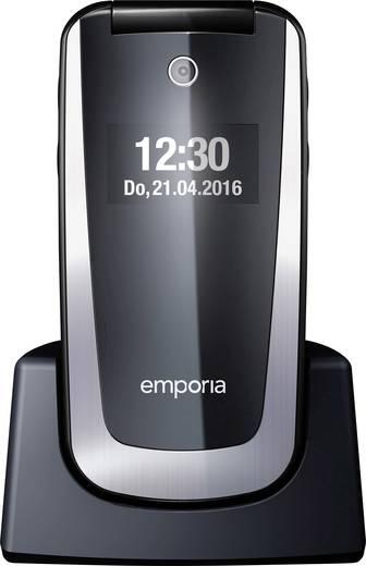 emporia select senioren klapp handy mit ladestation schwarz. Black Bedroom Furniture Sets. Home Design Ideas