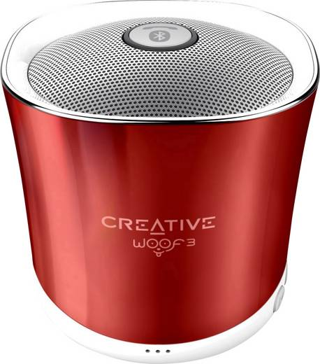 Bluetooth® Lautsprecher Creative Woof 3 Freisprechfunktion, SD Rot