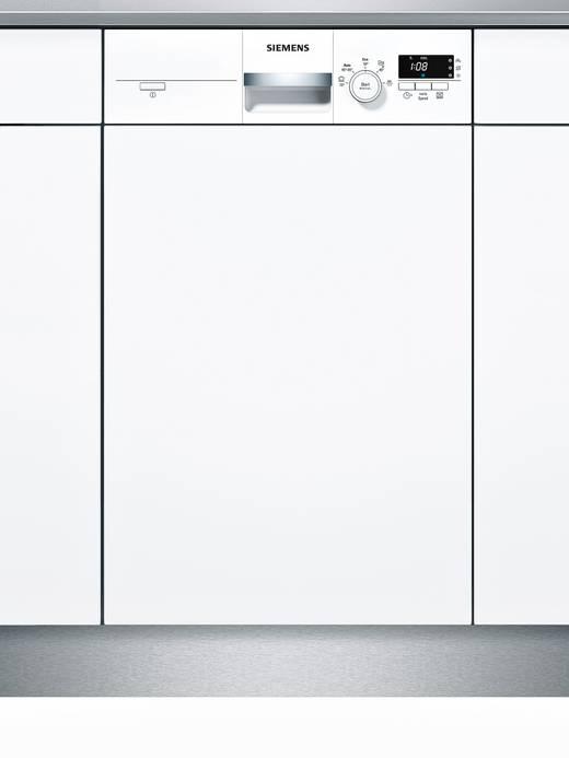 Geschirrspüler 45 cm Siemens iQ300 speedMatic A+ Teilintegrierbar Weiß | {Einbaugeschirrspüler 81}