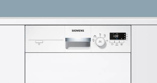 Geschirrspüler 45 cm Siemens iQ300 speedMatic A+ Teilintegrierbar Weiß | {Einbaugeschirrspüler 92}