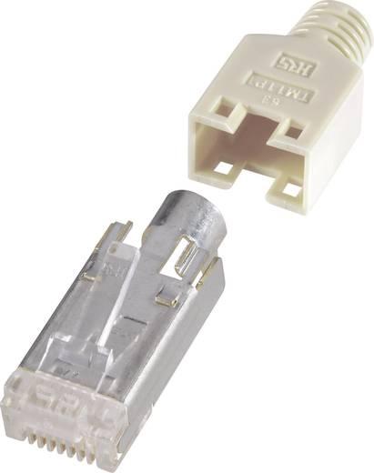 RJ45-Steckverbinder, geschirmt CAT5e Stecker, gerade Pole: 8P8C H9540.1-10 Beige Renkforce H9540.1-10 10 St.