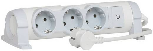 Legrand 694621 Steckdosenleiste mit Schalter 3fach Weiß, Grau Schutzkontakt