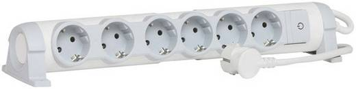 Legrand 694636 Steckdosenleiste mit Schalter 6fach Weiß, Grau Schutzkontakt