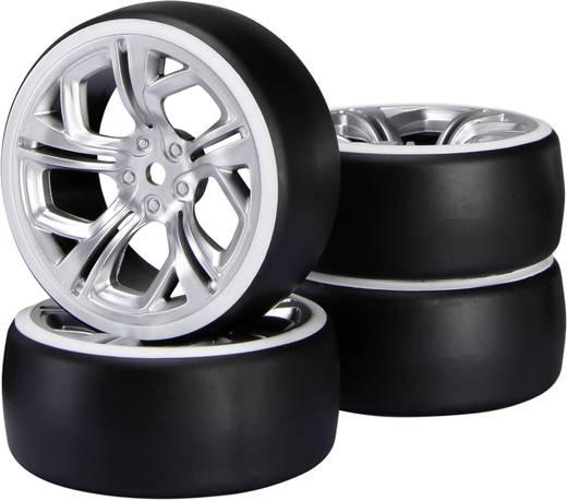 Reely 1:10 Straßenmodell Kompletträder Drift Y-Speichen Silber 1 St.
