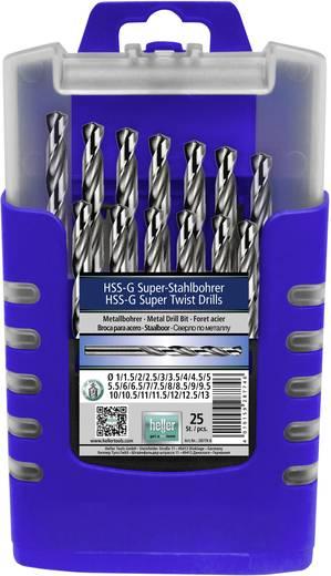 HSS Metall-Spiralbohrer-Set 25teilig Heller 28774 6 geschliffen DIN 1414, DIN 338 Zylinderschaft 1 Set