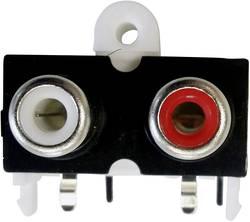 Image of Cinch-Steckverbinder Buchse, Einbau horizontal Polzahl: 2 Gold, Rot, Weiß BKL Electronic 72382 1 St.