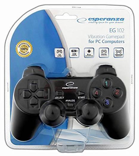 Gamepad Esperanza WARRIOR PC Schwarz