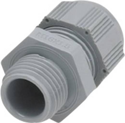 Helukabel HT-R 903545 Kabelverschraubung mit reduziertem Dichteinsatz, mit Vibrationsschutz M25 Polyamid Silber-Grau (R