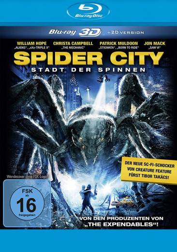 blu-ray 3D Spider City 3D + 2D FSK: 16