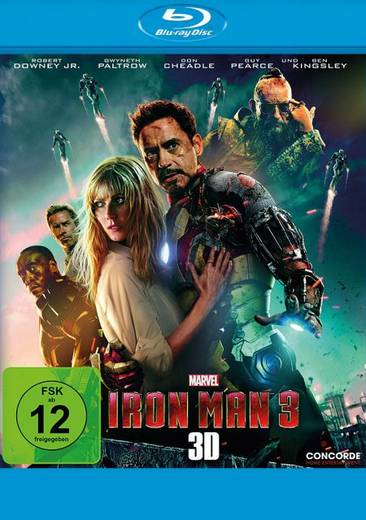 blu-ray 3D Iron Man 3 Blu-ray 3D + 2D FSK: 12