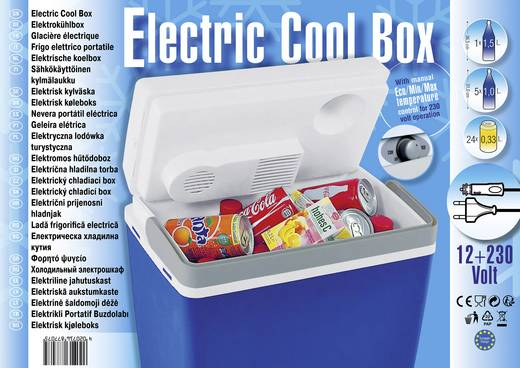 Ezetil Mirabelle E24 M Kühlbox Thermoelektrisch 12 V, 230 V Blau, Weiß 20.6 l EEK=A