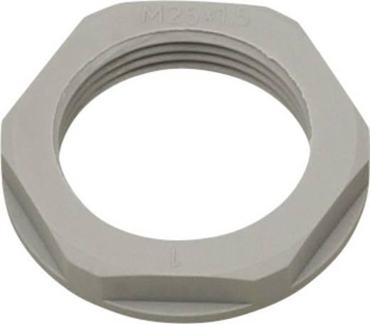 Gegenmutter mit Bund M25 Polyamid Silber-Grau (RAL 7001) Helukabel KMK-PA 94263 1 St.