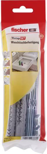 Fischer 534574 Montageset Waschtischbefestigung Inhalt 1 Set 2x Universaldübel UX 14 x 75 mm · 2x Stockschraube 10 x 140