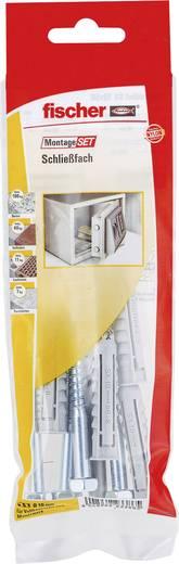 Fischer 534585 Montageset Schließfach Inhalt 1 Set 4x Dübel SX 10 x 50 mm · 4x Schraube Sechskant 7 x 65 mm · 1x Steinbo