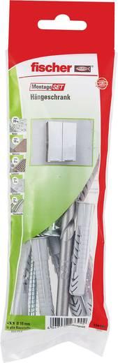 Fischer 534589 Montageset Hängeschrank Inhalt 1 Set 6x Universaldübel UX 10 x 60 mm R · 6x Schraube 6 x 85 mm · 1x Stein