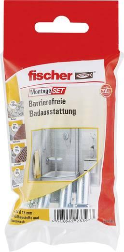 Fischer 534595 Montageset Barrierefreie Badausstattung Inhalt 1 Set 4x Dübel SX 12 x 60 mm · 4x Schraube Sechskant 8 x 8