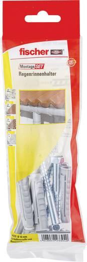 Fischer 534597 Montageset Regenrinnenhalter Inhalt 1 Set 4x Dübel SX 10 x 50 mm · 4x Schraube Sechskant 7 x 65 mm · 1x S