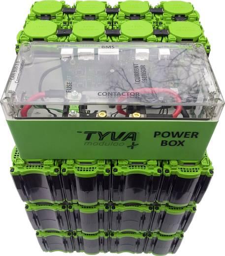 TYVA Li-Ion Modul 12.8 - 14.8 V für Akkupack parallel und reihe, 8 x 18650 M4-Schraubanschluss (L x B x H) 75 x 75 x 106
