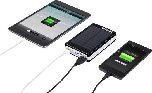 VOLTCRAFT PB-21 Solar Powerbank Li-Ion 13000 mAh