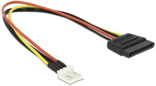 Delock Anschlusskabel [1x SATA-Strom-Stecker 15pol. - 1x Floppy Stecker 4pol.] 0.24 m Schwarz, Rot, Gelb